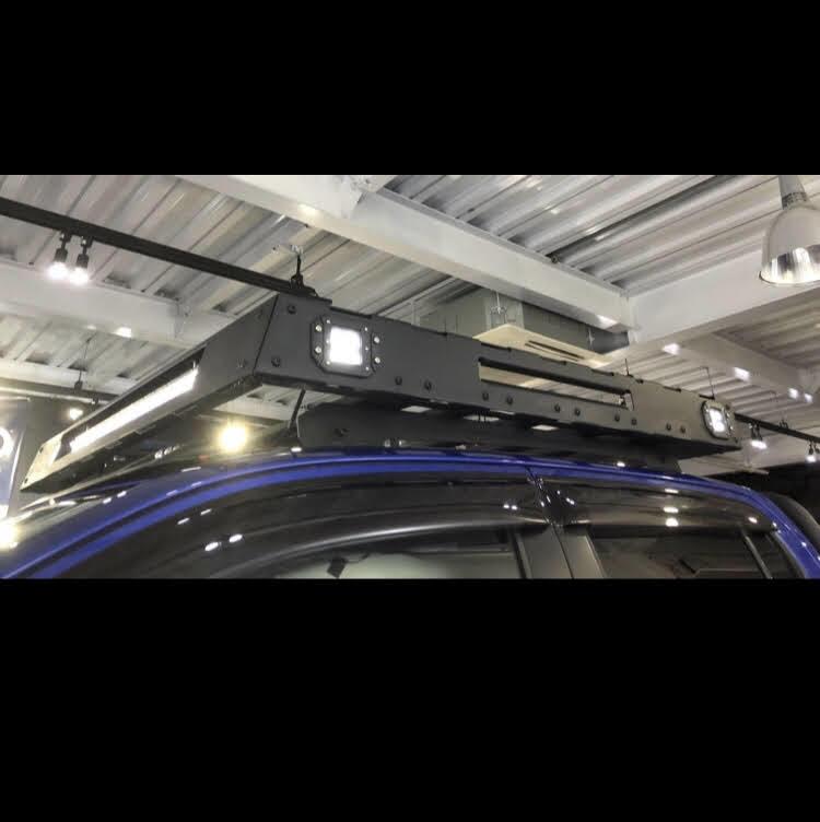[在庫有即納][当社オリジナル] トヨタ ハイラックス 125 専用 ルーフラック ルーフキャリア LED SUV ランクル ハイラックス プラド サーフ_画像1