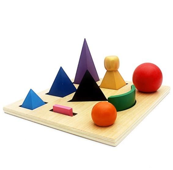 A0110 : モンテッソーリ 教具 型はめ パズル 木製 言語 おもちゃ おもちゃ 幼稚園 形合わせ 積み木 知育玩具 幼児 就学前_画像1