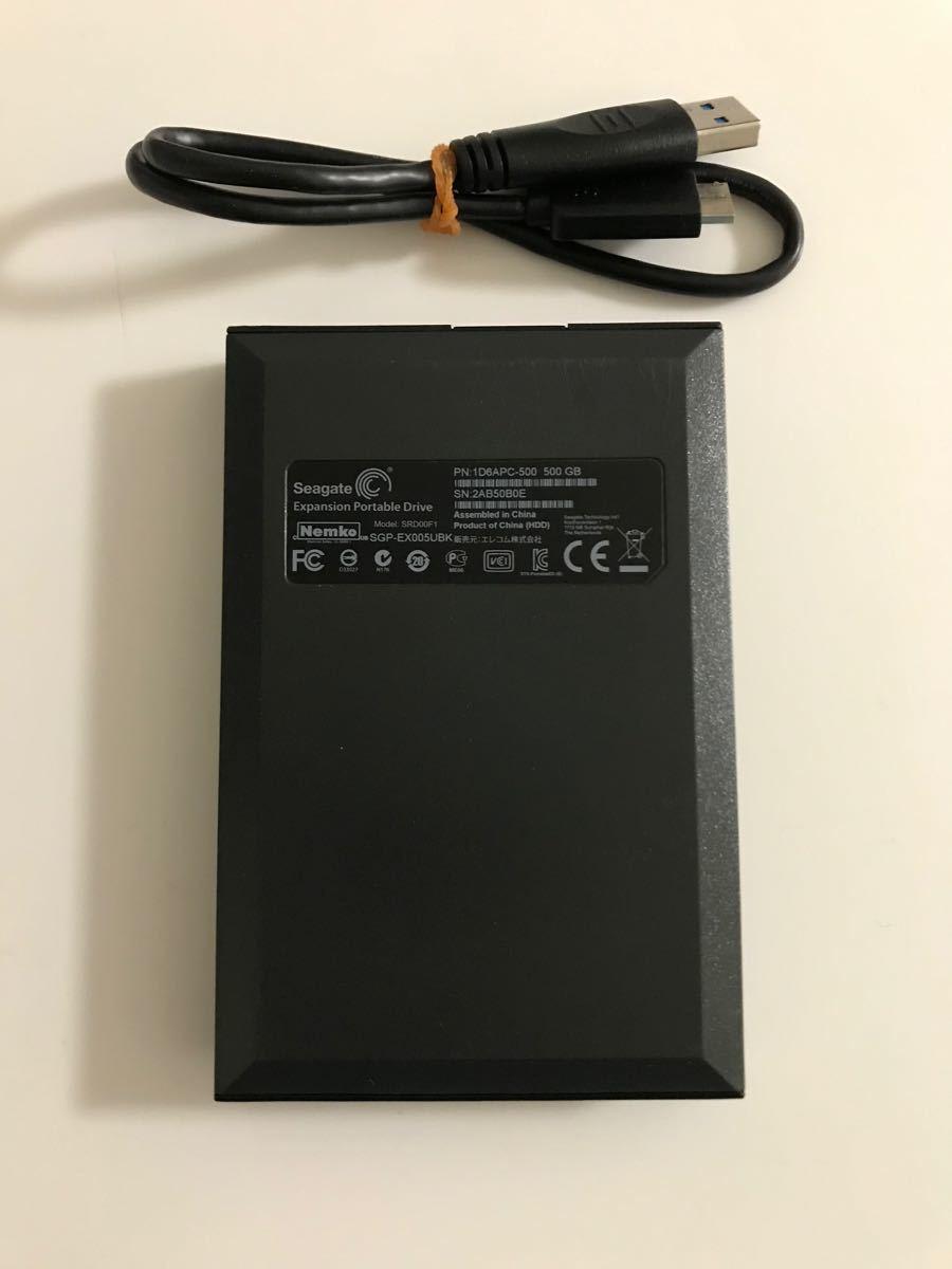 【送料込み】USB3.0 エレコム Seagate ポータブルHDD 500GB TV録画用