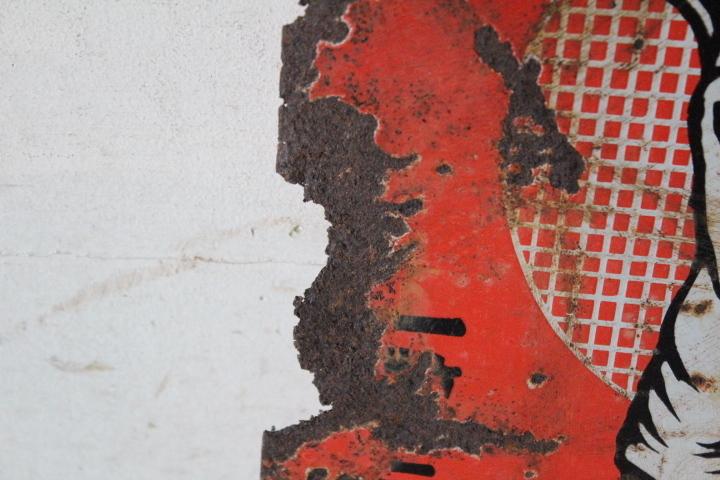 TB526グリコのホーロー両面看板 ビンテージ◇琺瑯/広告/昭和レトロ/シャビー/商店/壁掛け/コレクション/雑貨/古道具タグボート_画像3
