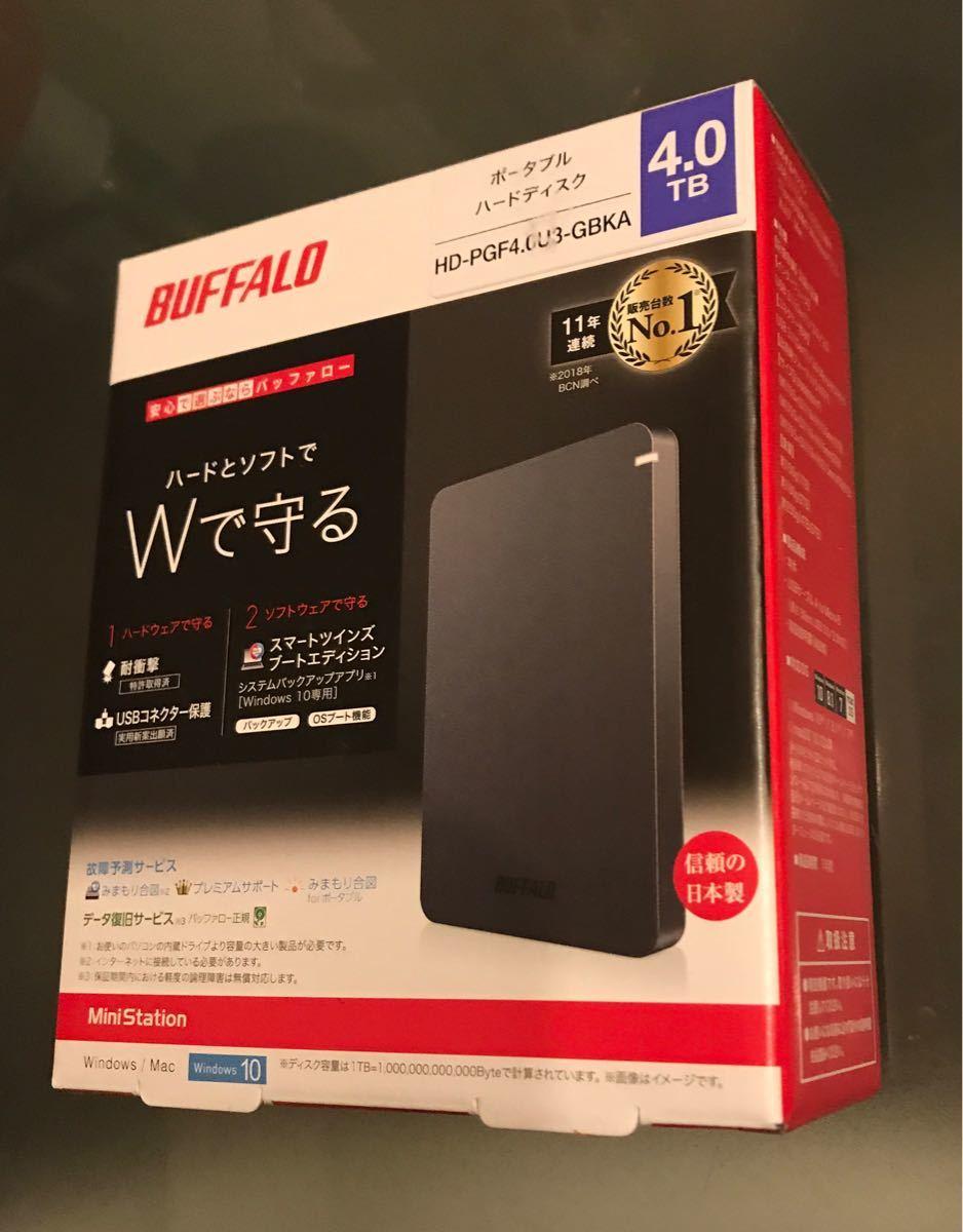 HD-PGF4.0U3-GBKA [HD-PGF-Aシリーズ 4TB ブラック]ポータブル4TB 新品未開封 複数割引きあり