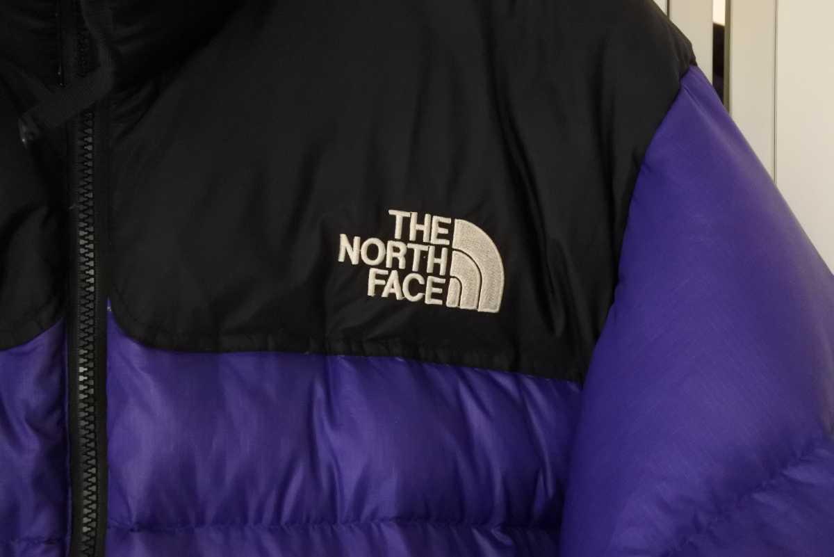 THE NORTH FACE ノースフェイス ヴィンテージ メンズ ダウンジャケット ヌプシ パープル 紫 中古 23452 正規品_画像4