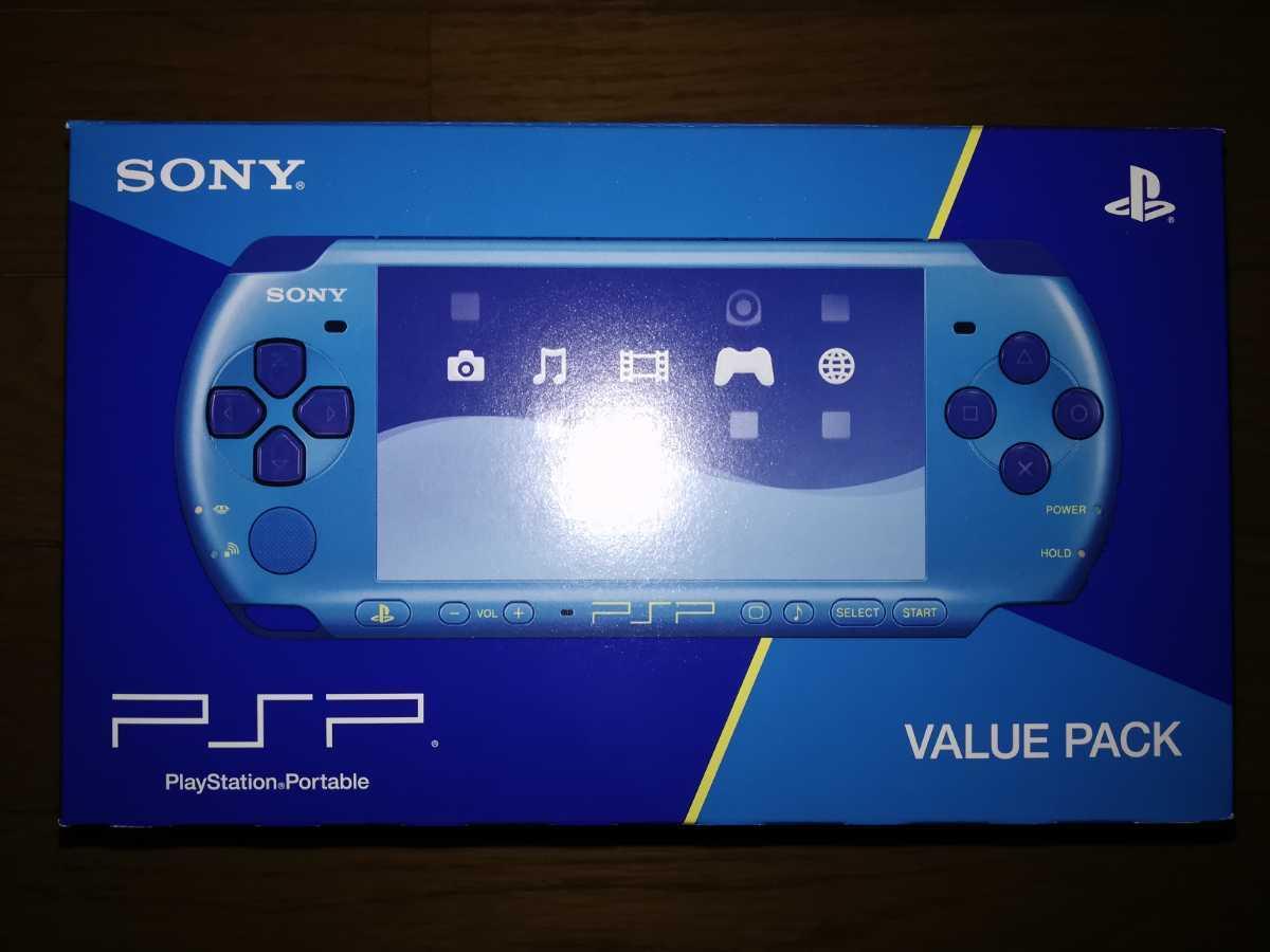 PSP-3000 本体 「プレイステーション・ポータブル」 バリュー・パック スカイブルー/マリンブルー 新品・未使用