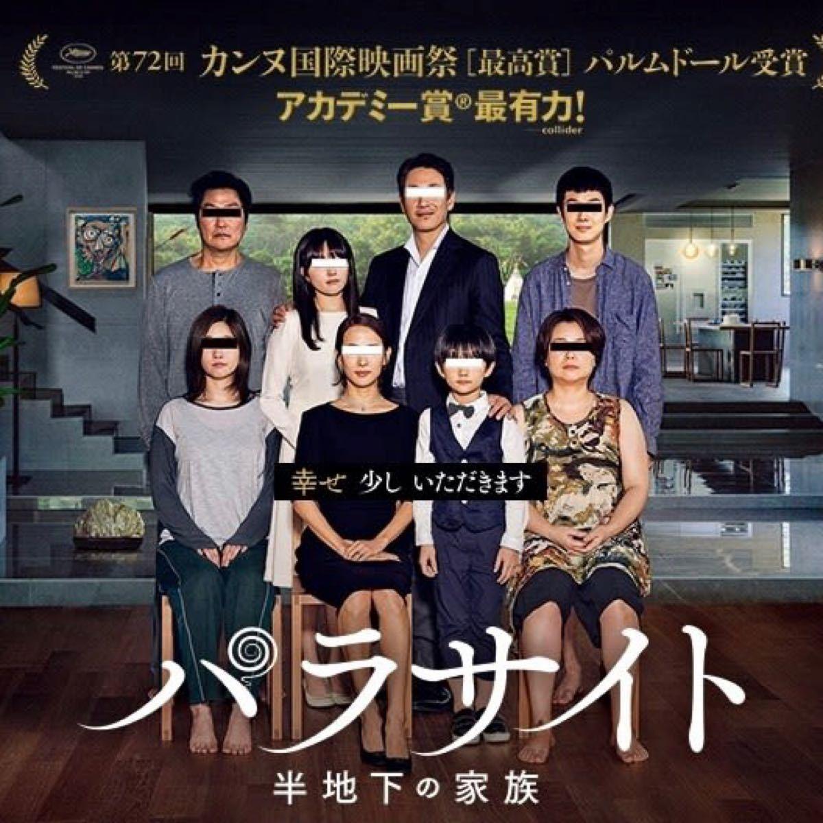 韓国映画  パラサイト  半地下の家族  ソン・ガンホ  DVD  日本語吹替有り  レーベル有り