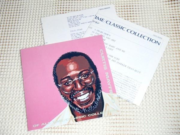 初期廃盤 Curtis Mayfield カーティス メイフィールド Of All Time Classic Collection / Move On Up 等収録 通な選曲良ベスト CECC 00255