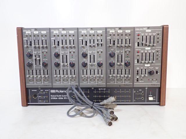 【希少】Roland ローランド アナログシンセサイザー SYSTEM-100M 191-J + モジュール(110 4基/140) ★ 5F52F-17
