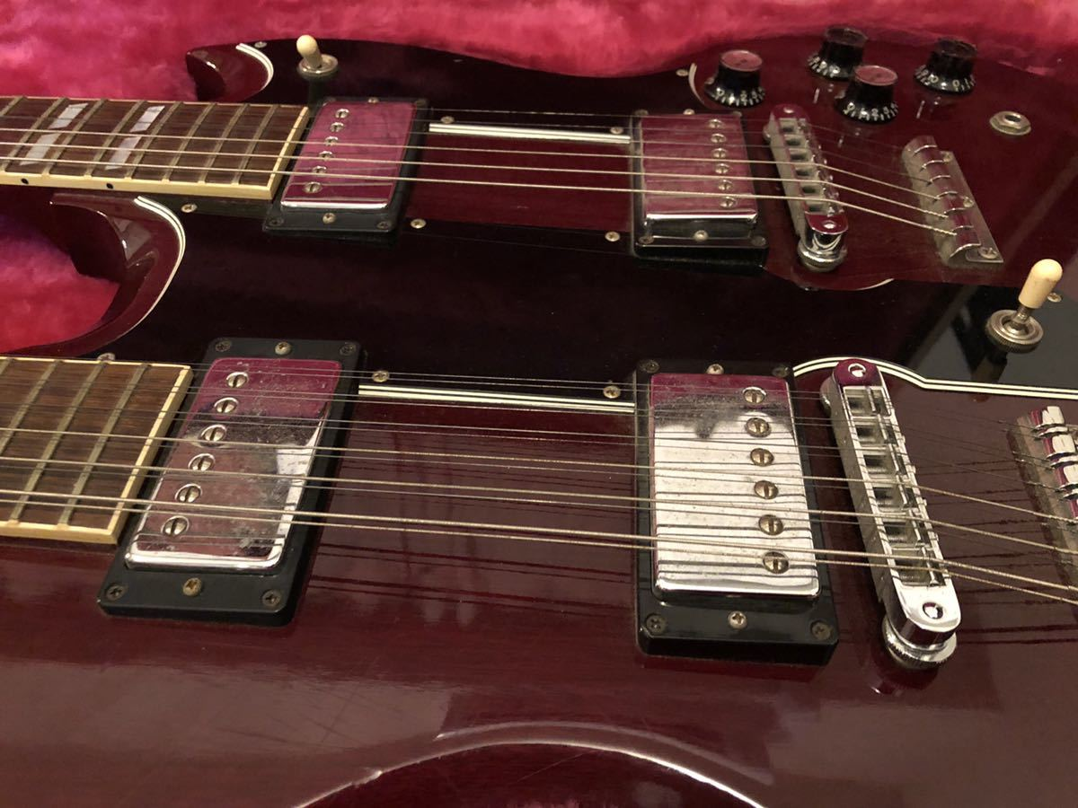 GIBSON USA (ギブソン) EDS-1275 SG double neck guitar ジミーペイジ Jimmy Page 1992年製 ダブルネックギター_画像4