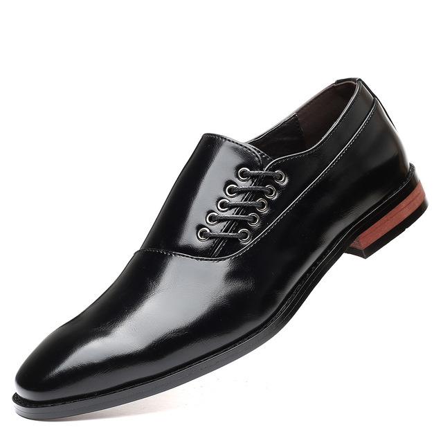 メンズ ビジネスシューズ カジュアルシューズ 革靴 紳士靴 フォーマル 大きいサイズあり ブラック 24.5cm~27.5cm_画像1
