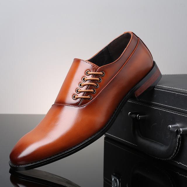 メンズ ビジネスシューズ カジュアルシューズ 革靴 紳士靴 フォーマル 大きいサイズあり ブラック 24.5cm~27.5cm_画像6