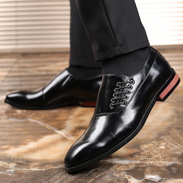 メンズ ビジネスシューズ カジュアルシューズ 革靴 紳士靴 フォーマル 大きいサイズあり ブラック 24.5cm~27.5cm_画像3