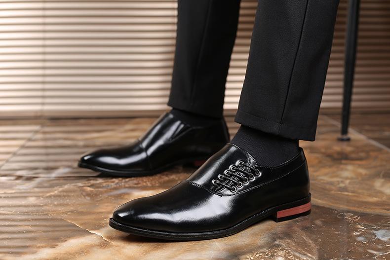 メンズ ビジネスシューズ カジュアルシューズ 革靴 紳士靴 フォーマル 大きいサイズあり ブラック 24.5cm~27.5cm_画像4