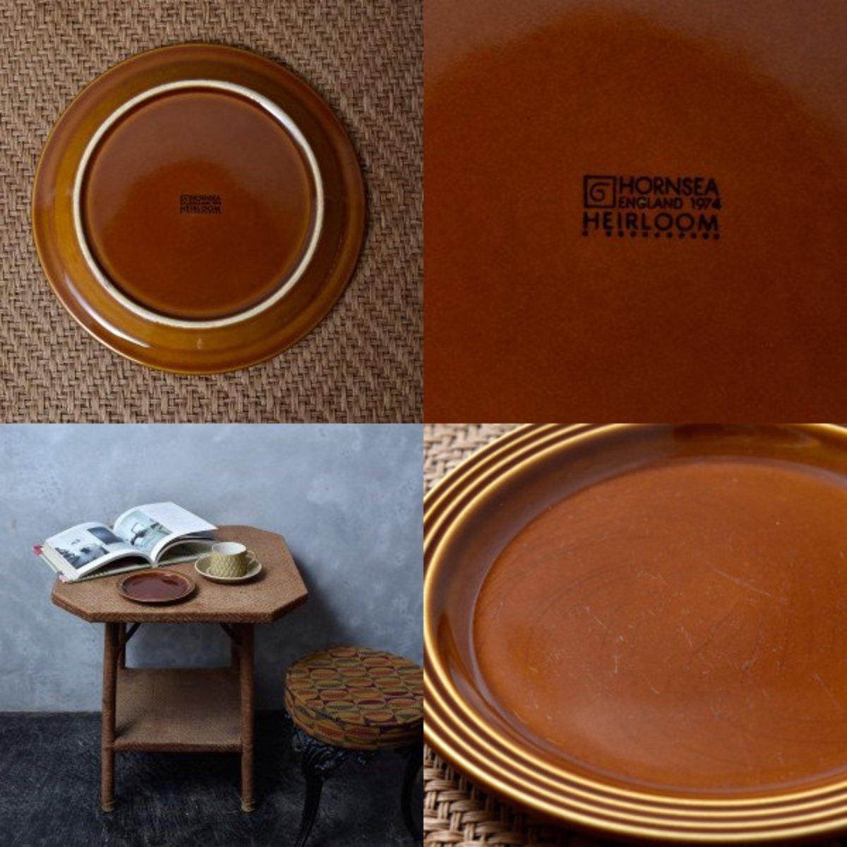 IZ45985I○HORNSEA エアルーム プレート 17.5cm 英国 ヴィンテージ ホーンジー Heirloom ブラウン イギリス ビンテージ デザート 食器 陶器_画像6