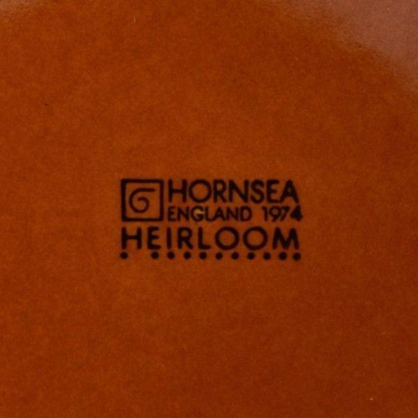 IZ45985I○HORNSEA エアルーム プレート 17.5cm 英国 ヴィンテージ ホーンジー Heirloom ブラウン イギリス ビンテージ デザート 食器 陶器_画像4