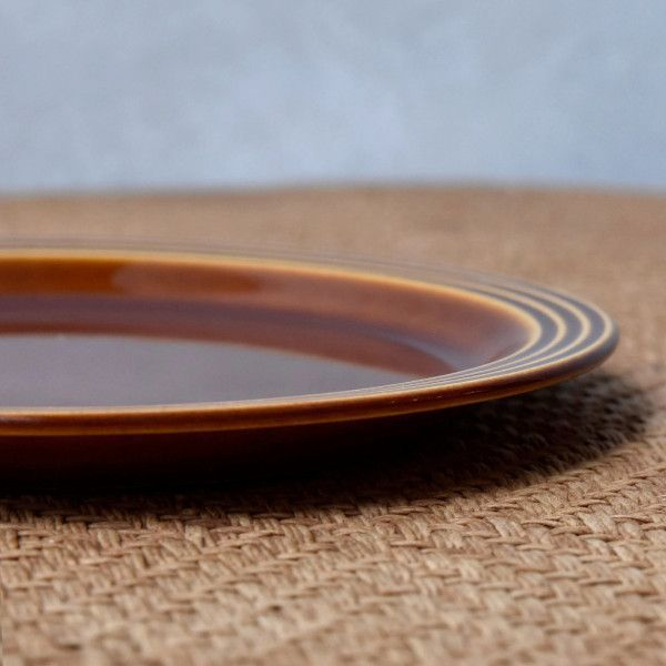IZ45985I○HORNSEA エアルーム プレート 17.5cm 英国 ヴィンテージ ホーンジー Heirloom ブラウン イギリス ビンテージ デザート 食器 陶器_画像3