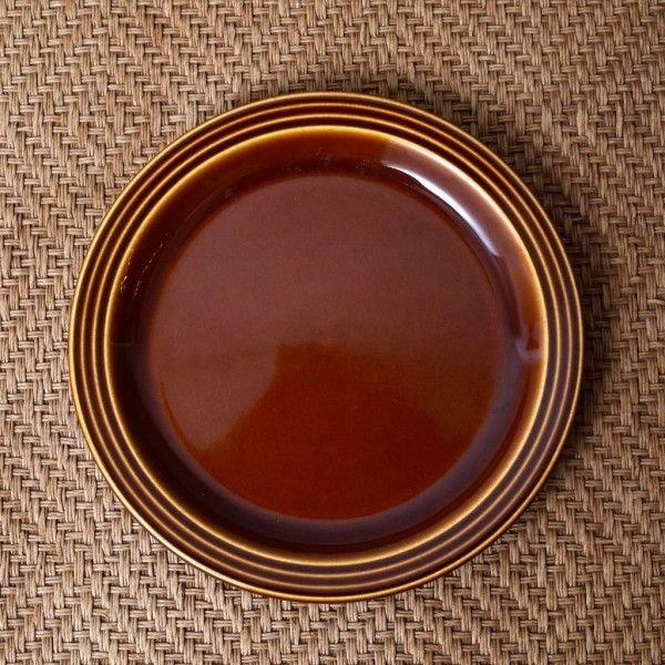 IZ45985I○HORNSEA エアルーム プレート 17.5cm 英国 ヴィンテージ ホーンジー Heirloom ブラウン イギリス ビンテージ デザート 食器 陶器_画像1