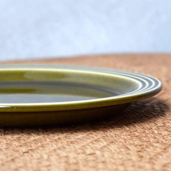 IZ44201I○HORNSEA エアルーム プレート 17.5cm 英国 ヴィンテージ ホーンジー Heirloom グリーン 緑 陶器 デザート イギリス ビンテージ_画像3