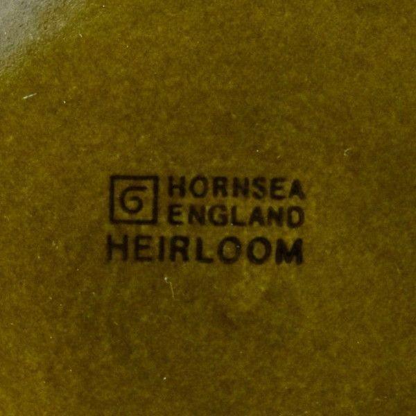 IZ44201I○HORNSEA エアルーム プレート 17.5cm 英国 ヴィンテージ ホーンジー Heirloom グリーン 緑 陶器 デザート イギリス ビンテージ_画像4