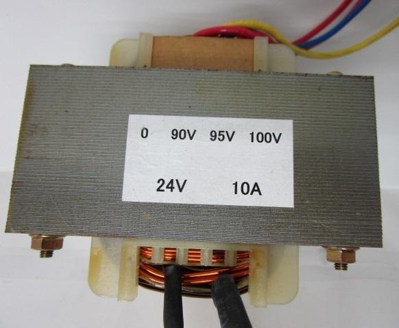 ★ 10A:240VA/24V=100V 高容量トランス(変圧器) 在庫限りの大特価【中古品/通電チェック済み】パチスロ実機使用可能_画像1