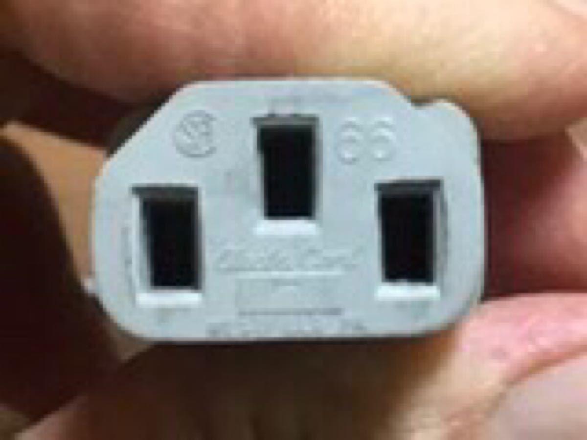 電源ケーブル 3ピンソケット(メス)-3ピンプラグ(オス) 1.8m