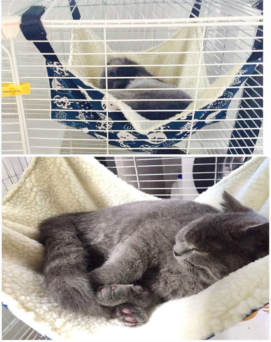 猫ケージハンモック キャットタワーハンモック ペット用品 和風 ホワイト