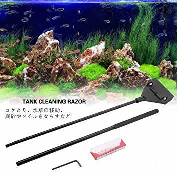 水槽スクレーパー プロレイザー アクアリウムクリーナーセット 魚タンク クリーニングブラシ ゴミ取り 掃除用品 多機能 ステンレ_画像4