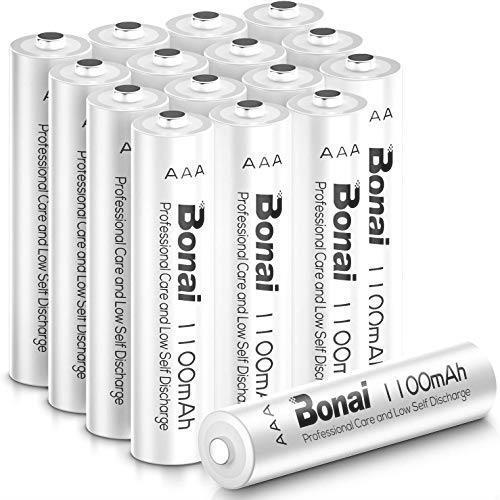新品 ニッケル水素電池 単4充電池 16個パック 単4 (約1200回使用可能)CEマーキング取得 自然放電抑制 高容量1100mAh BONAI UL認証済み _画像1
