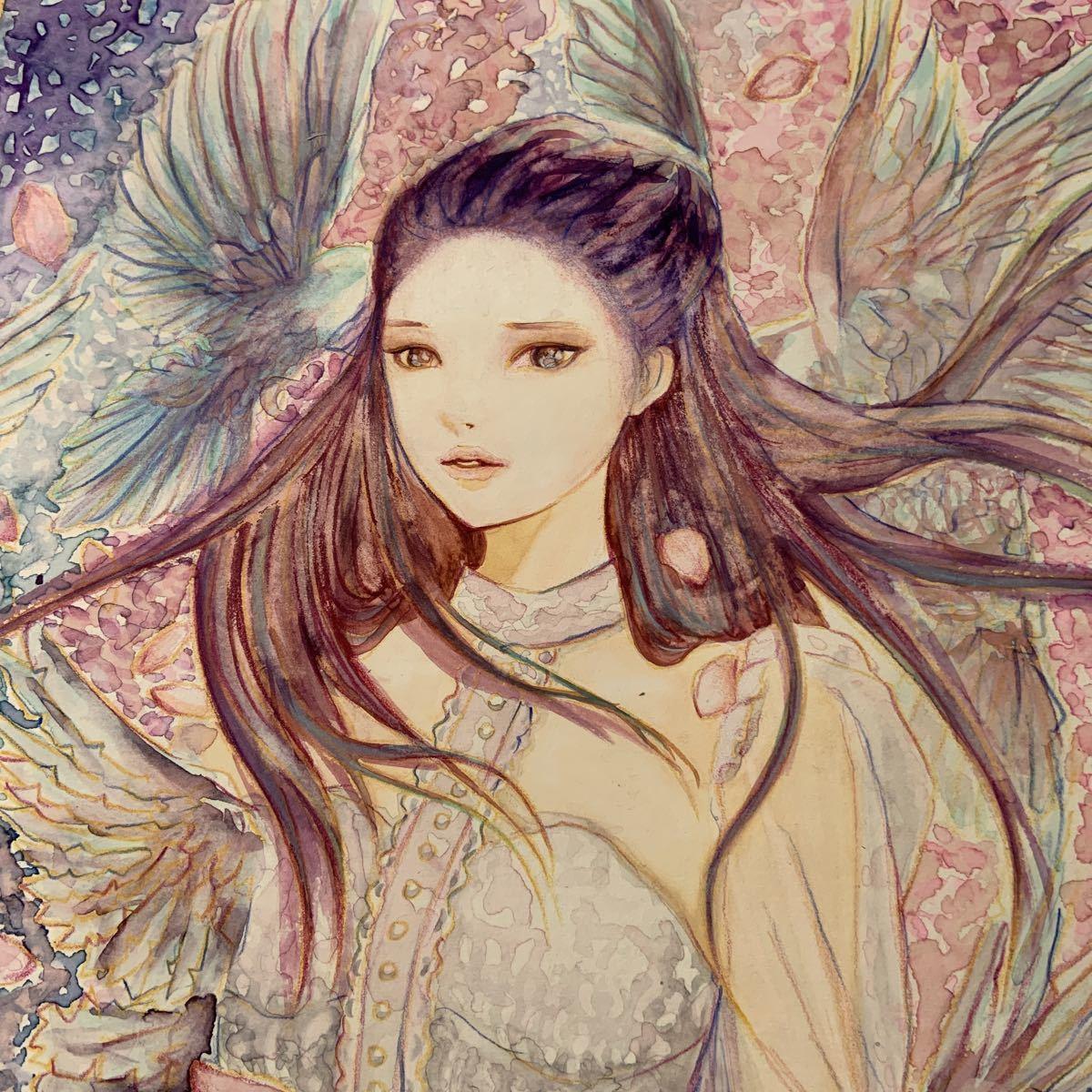 手描きイラスト 水彩画 【春の風】_画像2