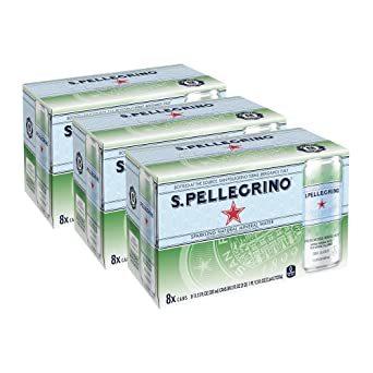 24本 サンペレグリノ (S.PELLEGRINO) 炭酸水 缶 330ml [直輸入品] &24本_画像3