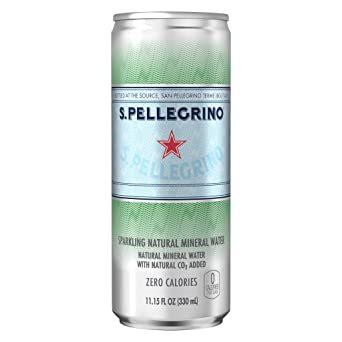 24本 サンペレグリノ (S.PELLEGRINO) 炭酸水 缶 330ml [直輸入品] &24本_画像1