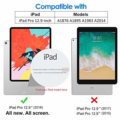 ブラック 12.9インチ JEDirect iPad Pro 12.9インチ ケース 2018モデル (2020モデル非対応) _画像3