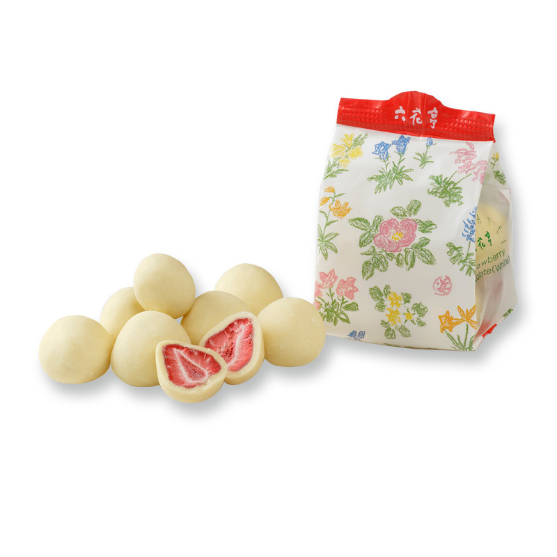 六花亭 【北海道銘菓】 ストロベリーチョコ ホワイト 袋入(60g) 他同時出品中_画像2