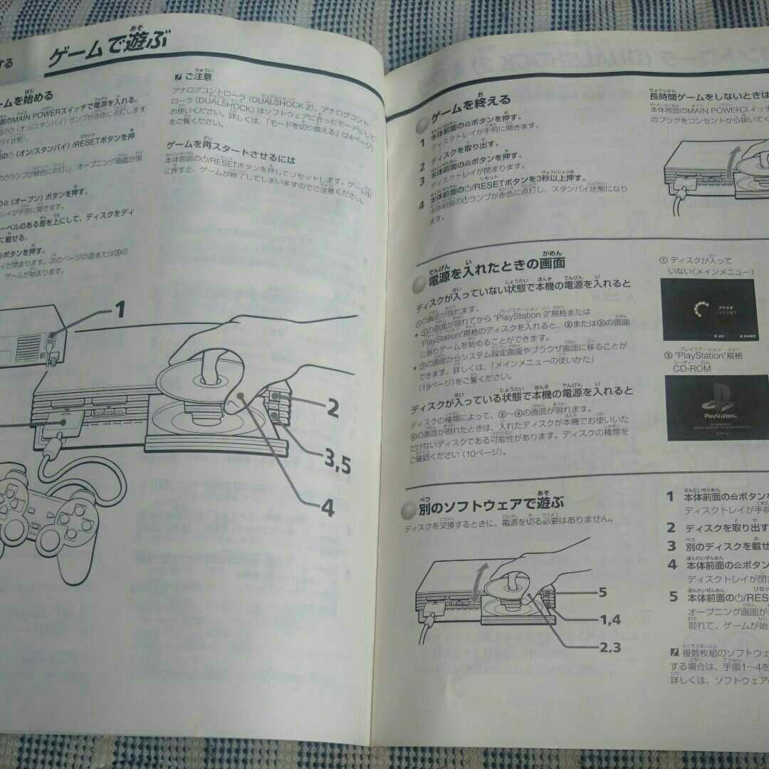 SONY playstation2 取扱説明書 SCPH-55000 GT プレステ2 プレイステーション2