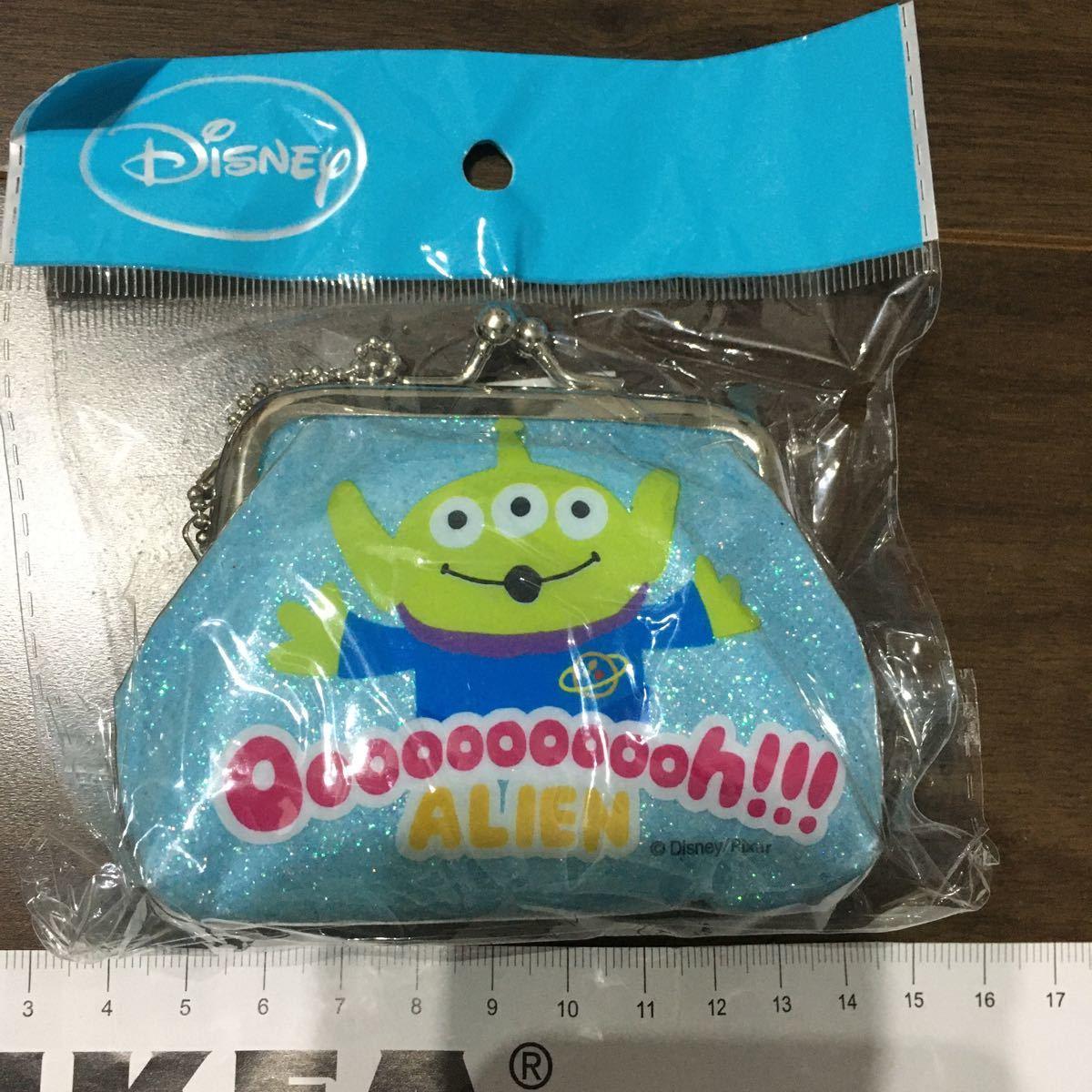 ラメ がまぐち ミニ がま口財布 がま口ポーチ Disney ディズニー 土産 リトルグリーンメン トイストーリー コイン