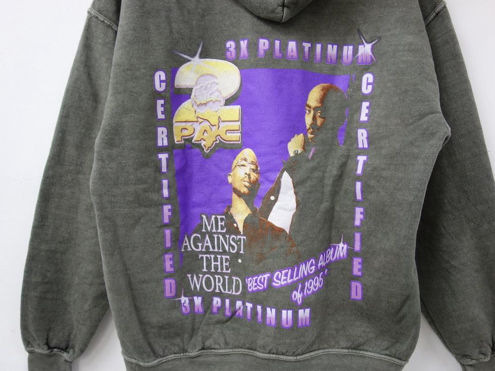 海外限定 2pac Me Against The World オフィシャル スウェットパーカ L