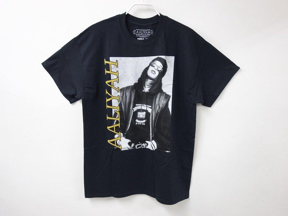 海外限定 オフィシャル Aaliyah Tシャツ black M