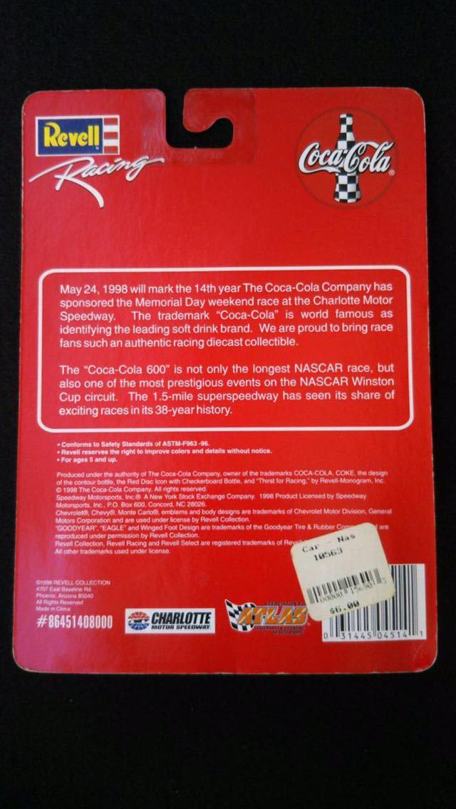 1998 Revell レーシング 1/64 NASCAR シボレー モンテカルロ Coca Cola ペースカー ミニカー ナスカー レベル ダイキャスト コカコーラ_画像2