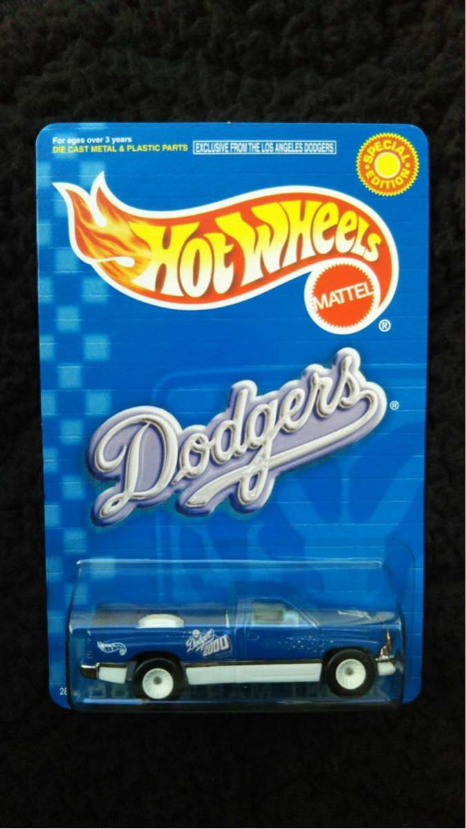 Hot Wheels ホットウィール MLB ドジャース 限定 Dodge RAM トラック ミニカー ダッジ Dodgers 大リーグ アメリカ 雑貨 アメ車 メジャー_画像1