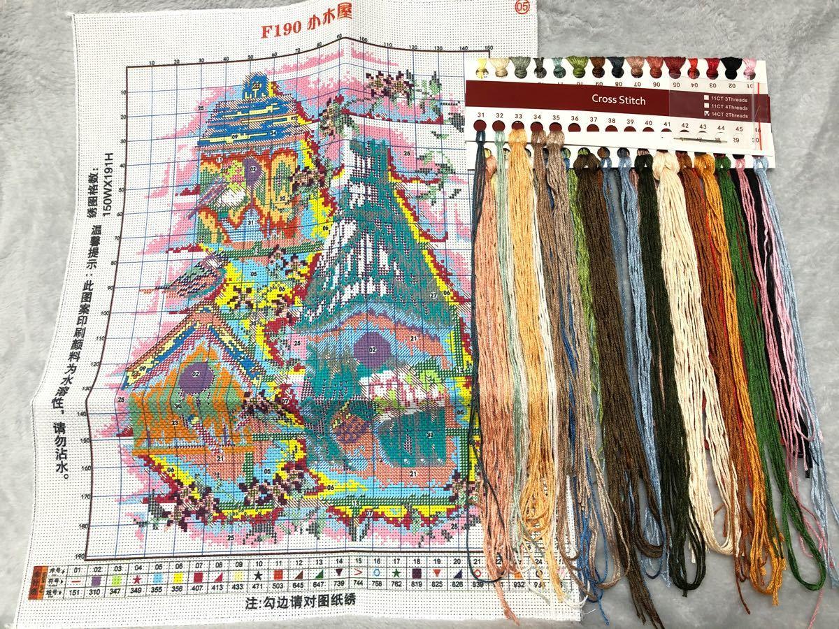 クロスステッチ刺繍キット(F190)14CT