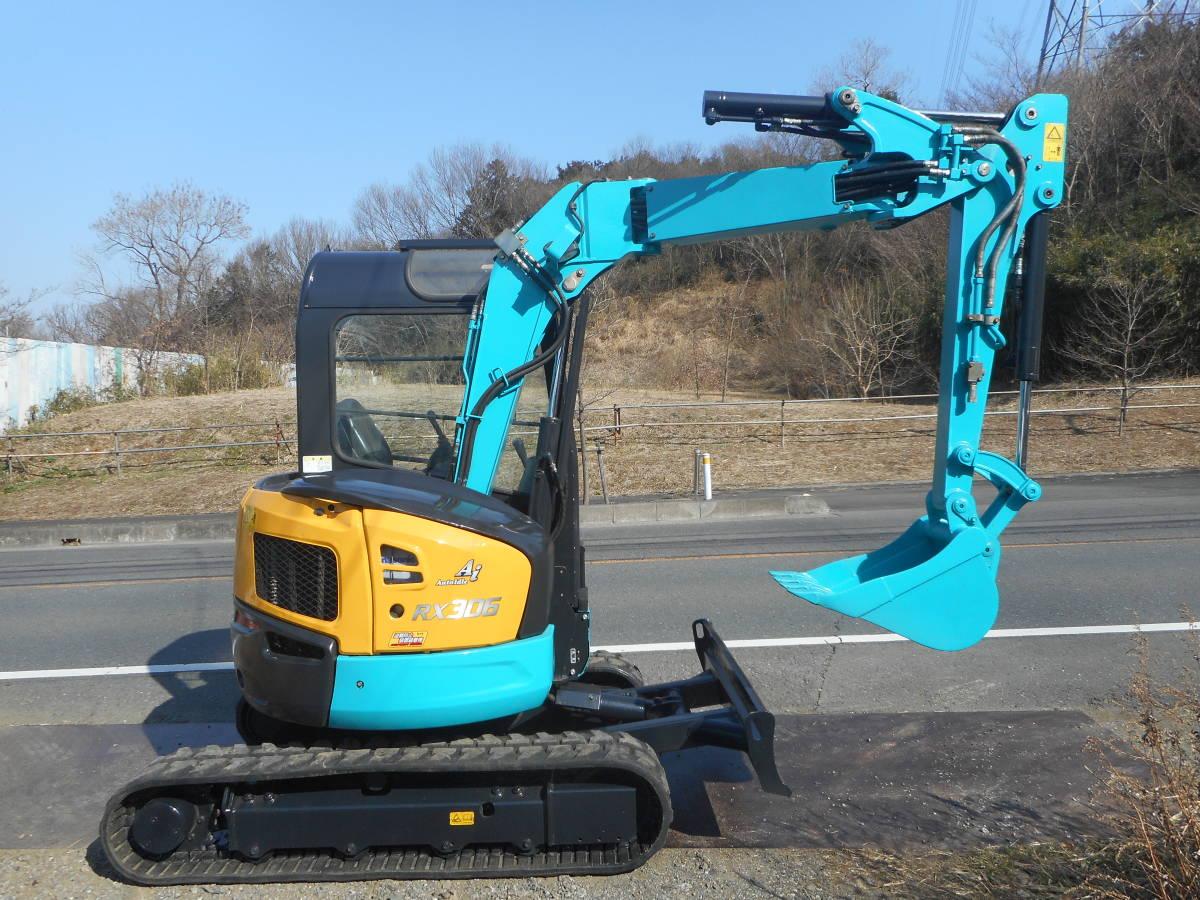 クボタ KUBOTA RX-306E 作動時間1064h ミニユンボ 油圧 ショベル バックホー 共用配管(ブレーカ)付き 塗装済み 倍速有り