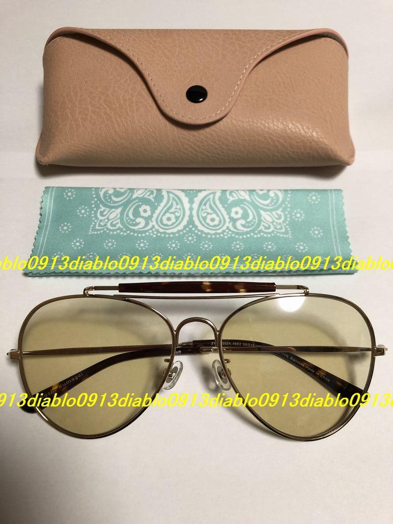キムタク着 完全同型同色 新品 Zoff takashi kumagai ティアドロップ サングラス ZY192G02-56E2 メガネ めがね 眼鏡 WIND AND SEA 熊谷隆志_画像3