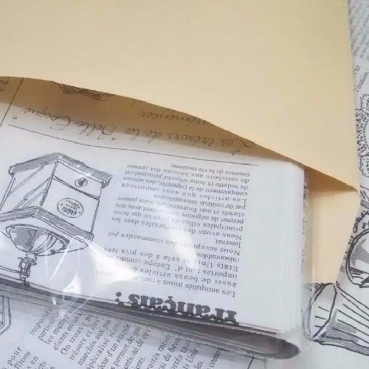 匿名配送・送料無料 20枚 おてごろ価格 フランスの新聞紙風 包装紙 かわいい ラッピングペーパー ニュースペーパー 英字新聞の代わりに_画像3