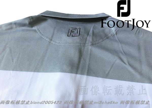 ■新品【FOOTJOY GOLF】フットジョイゴルフ刺繍ロゴ吸汗速乾パフォーマンスポロシャツ■HG/L_画像5