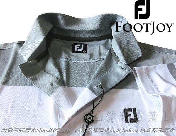 ■新品【FOOTJOY GOLF】フットジョイゴルフ刺繍ロゴ吸汗速乾パフォーマンスポロシャツ■HG/L_画像1