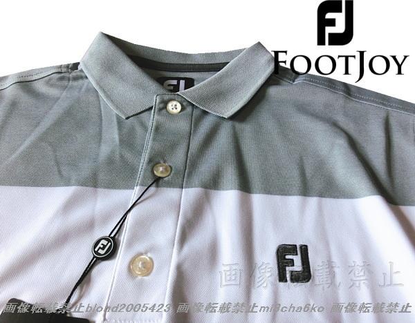 ■新品【FOOTJOY GOLF】フットジョイゴルフ刺繍ロゴ吸汗速乾パフォーマンスポロシャツ■HG/L_画像3