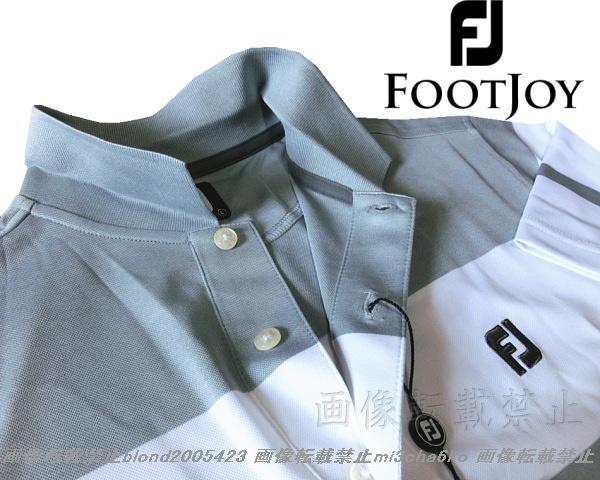■新品【FOOTJOY GOLF】フットジョイゴルフ刺繍ロゴ吸汗速乾パフォーマンスポロシャツ■HG/L_画像4