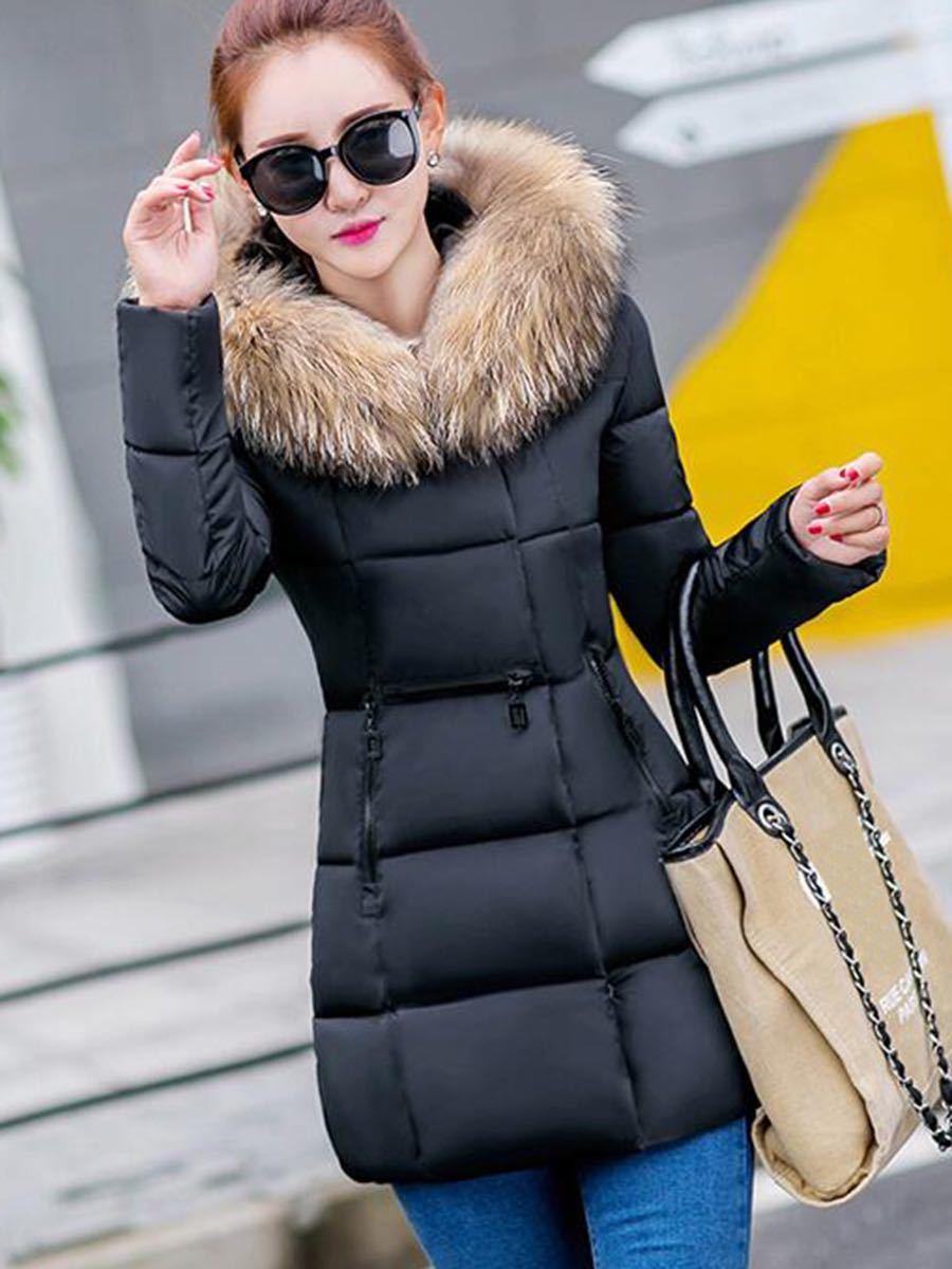 レディースダウンジャケット ダウンコート ブラック 中綿コート ファー付き フード付き Mサイズ Lサイズ  中綿ジャケット