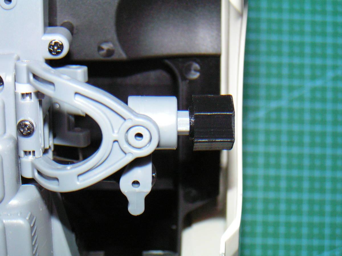 3DプリンタPLA+ 1/10 WPL D12用 5mm→12mmホイール変換ハブ 〔1台分〕 スズキ キャリイ トラック ラジコン RC_フロントのハブ装着方向の参考