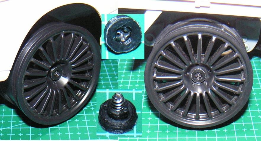 3DプリンタPLA+ 1/10 WPL D12用 5mm→12mmホイール変換ハブ 〔1台分〕 スズキ キャリイ トラック ラジコン RC_ねじ用カラーの使用例