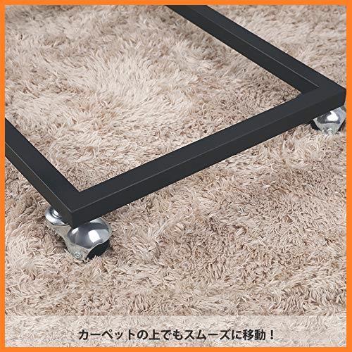 送料無料* VASAGLE 幅50x奥行35x高さ60cm ソファ ナイトテーブル サイドテーブル 耐荷重20kg キャスター付き 広い天板 お買い得_画像6