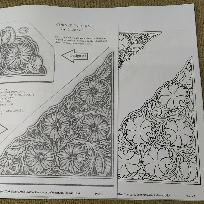 レザークラフト カービング 図案 A4 ハンドメイド材料